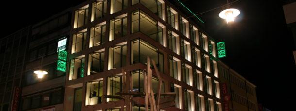 Außenillumination PSD-Bank, Saarbrücken